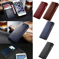 New Wallet Flip PU Leather Phone Card Case Cover For iPhone 7 Samsung S7 Edge +