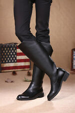 2016 NEW Rock COOL # MEN High Knee Equestrian Cowboy Riding Army long boot US 13