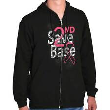 Save Second Base Breast Cancer Awareness T Womens Clothes Gift Zipper Hoodie