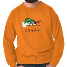 Life Is Crap Bass Fishing Good Life Funny Shirts Gift Ideas Sweatshirt