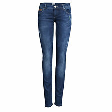 6240 Only Ladies Skinny Superlow Coral Dark Blue Tube Jeans trouser Blue new