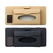 Car Sun Visor Organizer 4 in 1 Pen CD Holder Cards Case and Tissue Box