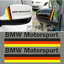 2x Germany Car Auto Wing Rearview Mirror Sticker Decal for BMW Motorsport Decals