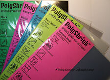 8 Polyshrink sheets Create FaBuLoUS SHRINK ART Jewelry, Gifts, Ornaments & More!