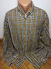 Arrow Size XL Men checkered casual yellowlight blue shirt 100% cotton classic