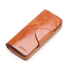 Women Wallets Layer Of Cowhide Female Zipper Genuine Leather Wallets