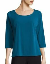 NWT Elie Tahari T Tahari Women's SUMAYA 3/4 Sleeved Top  Size Small