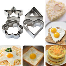 3pcs/Set Stainless Steel Biscuit Cookie Cake Pastry Fondant Mold Mould Cutter