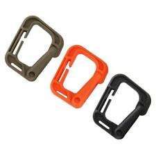 10Pcs Outdoor Webbing Strap Buckle Clip MOLLE Carabiner Bag Backpack Key Chain