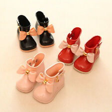 Kids Baby Girls Lovely Bowknot Candy Color Casual Party Shoes Jelly Rain Boots