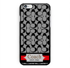 New Coach Fashion Gray Stripes Hard Case Cover for iPhone 7 Plus 7 6s Plus 6/6s