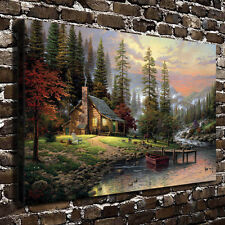 Thomas Kinkade A Peaceful Retreat, HD Canvas Print Home decoration Living Room