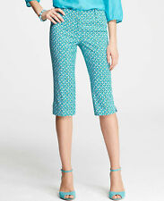 Ann Taylor - Woman's Turquoise Blue Geo Print Park Pedal Pushers $68.00 (H)