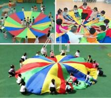 Rainbow Parachute 8-Handles Outdoor Games Exercise Sport Toys for Kids Children