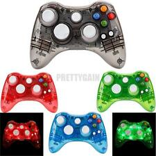 USB Wired/Wireless Remote Controller for Microsoft Xbox 360 Console Glow Light