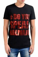 "Balmain ""Do You Speak Balmain ?"" Men's Black Crewneck T-Shirt Size M L XL"