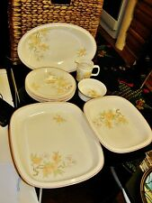 WEDGWOOD PEACH SELECTION OF SERVING ITEMS ALL IN VGC