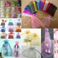 Wedding Favor Party 50pcs Candy Bags Organza Packing Pouches Gift Bags