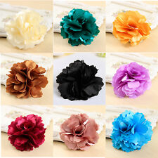 Gentlewomen fabric rose corsage brooch silk flower brooch Hair Clip Hairpin aÑg