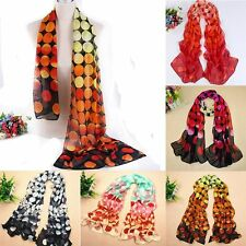 Dots Scarves Lady Shawl Long Soft Wrap Women Scarf Silk Chiffon Scarf