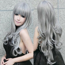 New 80cm Sexy Ladies Long Curly Full Wig Party Cosplay Fancy Dress Costume Wigs