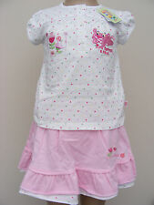 Baby Girls Pink Panther 2 Piece Outfit Skirt Pants & T Shirt Age 18-24 Months