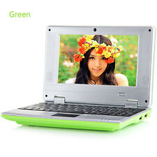 "7"" Android Mini Notebook 4GB/8GB Quad Core Laptop PC Netbook Keyboard WIFI gift"