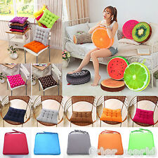 Fruit Plain Pillows Plush Dining Cushion Chair Seat Patio Office Buttocks Pad