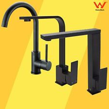 Square Round Black Swivel Basin Sink Mixer Kitchen Laundry Faucet Tall Tap Spout