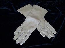VINTAGE BERGDORF GOODMAN SILK LINED LEATHER GLOVES ITALY SZ 7