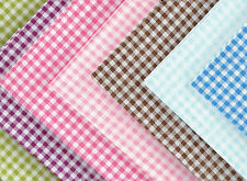 Fat Quarter Gingham Check Print 100% Cotton Fabric Quilting Patchwork Material