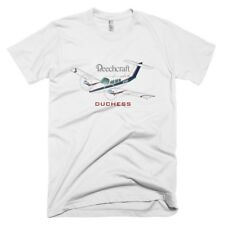 Beech 76 Duchess (Blue/Red) Airplane T-shirt - Personalized with N#