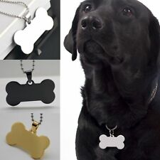 Engraved Bone Shape Steel Stainless ID Name Pet Cat Dog Tag