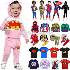 Superhero Hoodie Coats T-shirt Pants Outfits Sportwear Kids Boys Fancy Clothes