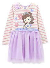 Girls Disney Junior Sofia the First Dress Party Dress Age's 2-6 Years NEW