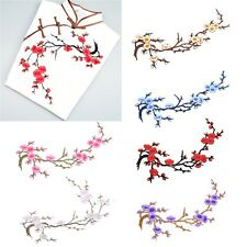 Flower Craft Embroidered Plum Blossom Sew/Iron On Applique Patch