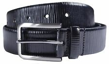 New Mens 35mm Wide Zebra Effect Genuine Leather Pin Buckle Belts S-3XL