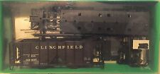 Clinchfield 70 Ton 2 Bay Covered Hopper Kit, Black, 6 cars, Bowser, Diff Numbers