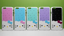 3D Rigid Plastic Rhinestone Colorful Hello Kitty Back Cover Case for iPhone6/6s
