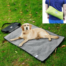 Waterproof Pet Dog Cat Kitten Fleece Blanket Travel Mat Cushion Pad Cover Bed