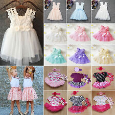 Infant Baby Girls Princess Dress Kids Party Prom Wedding Bridesmaid Pageant Gown