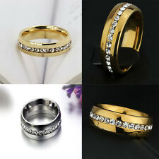 Sz4-15 CZ Stainless Steel Wedding Ring Titanium Couple
