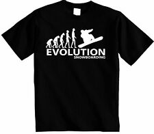 Snowboard T-Shirt |  Evolution of a Snowboarder T Shirt Snowboarding FREE UK P&P