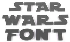 STAR WARS ACRYLIC LETTERS many colours & sizes plaque wall art door sign card