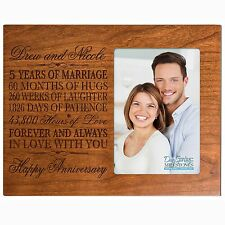 5th Anniversary Wedding Gift Personalized 4x6 Picture Photo Frame Engraved