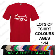 Legend Since ( Your Year) Personalised Baby Kids Boys Girls Ages 1-15 T Shirt