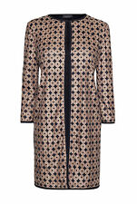 James Lakeland Beige/Black Laser Cut Long Jacket. RRP £170. Various Sizes. BNWT.