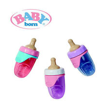 Baby Born Bottle with 2 Lids in Light Blue, Pink, Purple
