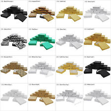 """12 Jewelry Gift Boxes Cotton Filled Cardboard Paper 3 1/2"""" x 3 1/2"""" x 1""""H"""