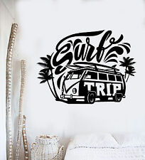 Vinyl Wall Decal Surf Trip Hippie Car Surfing Relax Stickers Mural (ig4320)